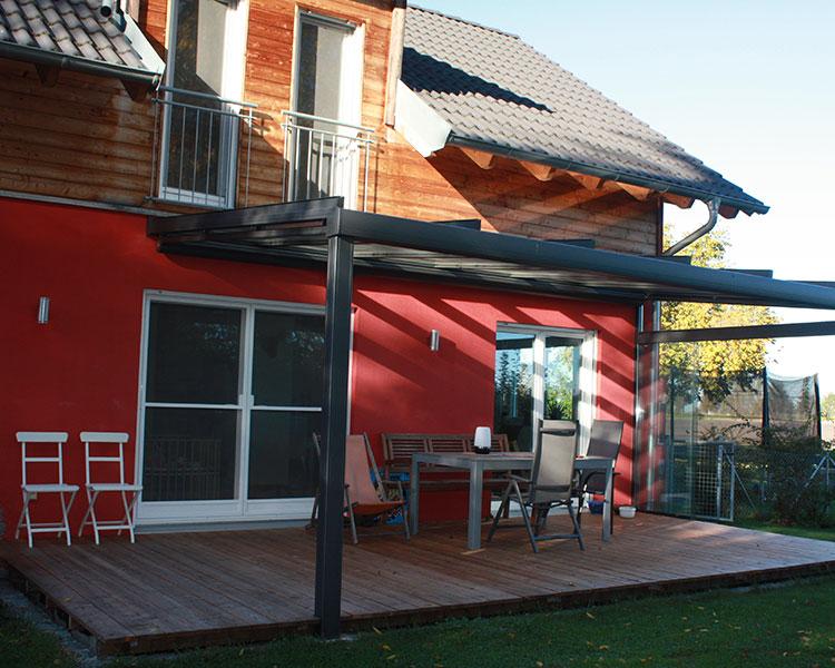 Terrassendächer, Sommergarten